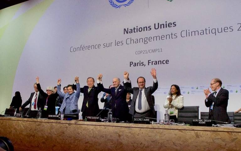 Adoption of the Paris Agreement COP-21 [US State Department photo/ Public Domain]
