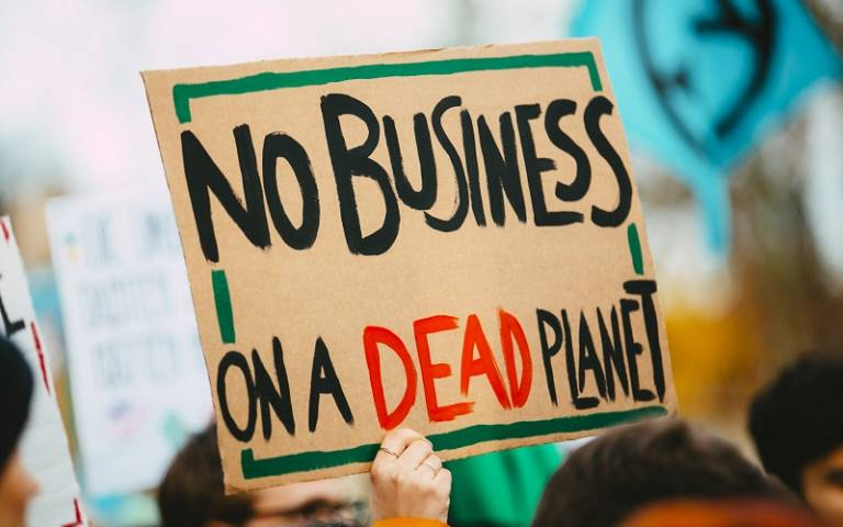 """Climate Protest: """"No Business on a Dead Planet"""""""