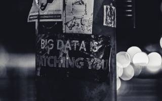 """Sign post: """"Big Data is Watching You"""""""