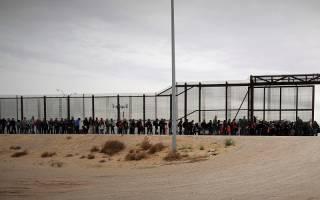 Migrants at US border in El Paso