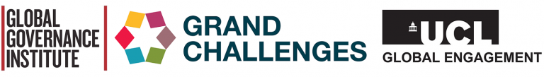 Logos: UCL Global Governance Institute, Grand Challenges and Global Engagement Office