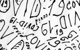 Covid-19 Lettering