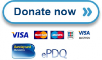 Donate button and logos