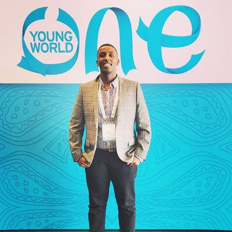 Abdul Elmi at One Young World for UCL - Latin America