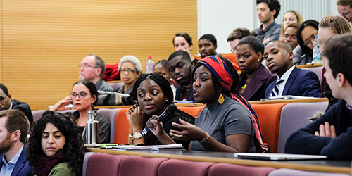 African Voices audience at UCL