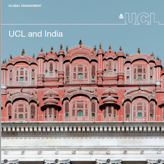 UCL and India booklet cover