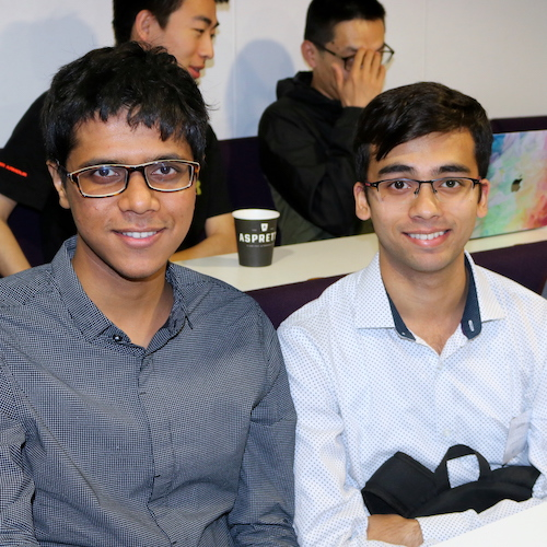 Two Indian students participating in the UCL CMIC programme last year