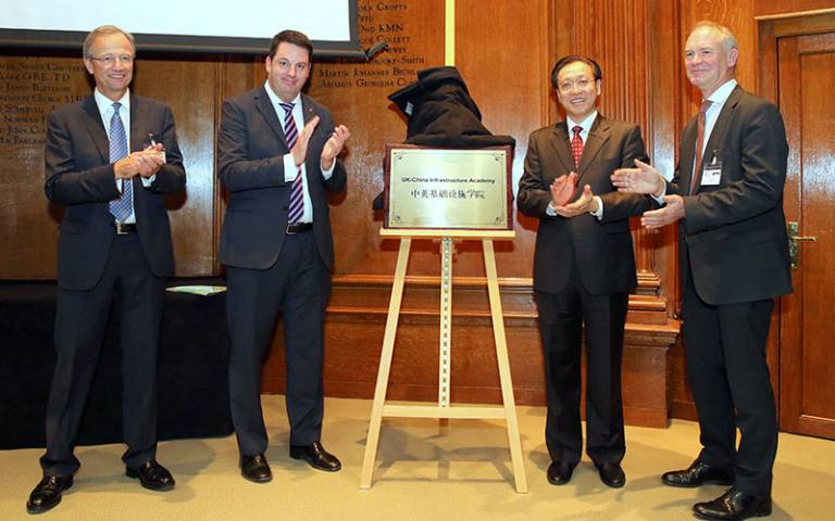 UCL Professor Alan Penn (right) at the launch of the UK-China Infrastructure Academy…