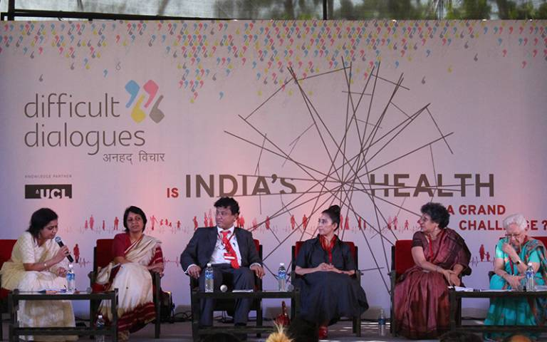 Panellists at Difficult Dialogues 2017. Image: Sujitha Selvarajah…