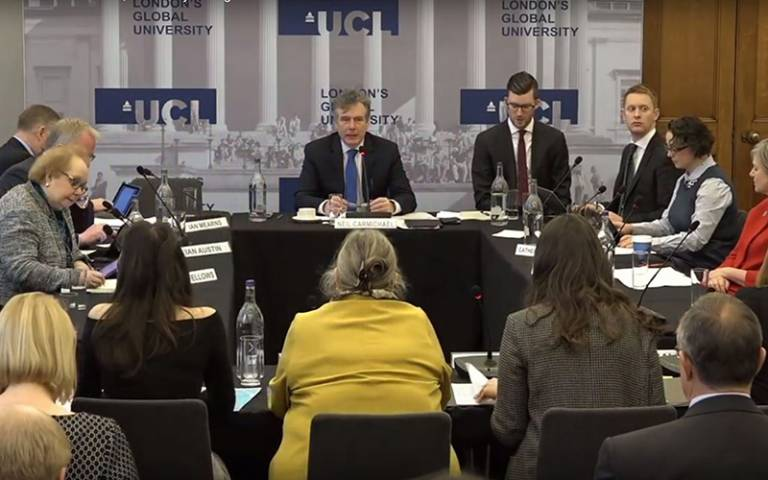UCL hosted the UK government Education Select Committee in January 2017…