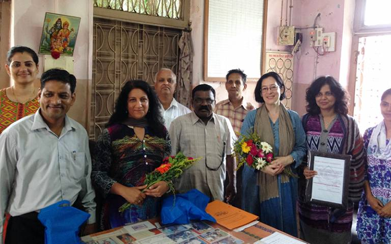 UCL academics Prof Monica Lakhanpaul, Prof Marie Lall and Dr Priti Parikh with partners in India…