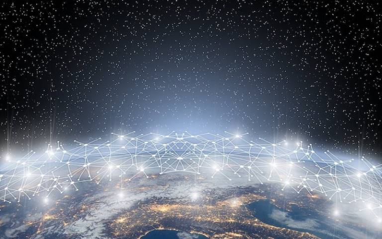Global digital downloads concept