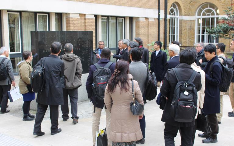 Osaka delegation in the UCL Japanese garden