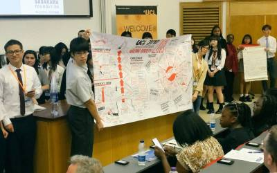 Students presenting at the UCL Japan Youth Challenge event 'Our life in an ageing society'