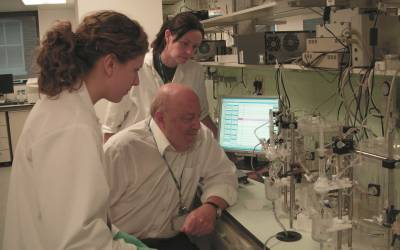 Professor Derek Yellon with staff at UCL's Hatter Cardiovascular Institute…