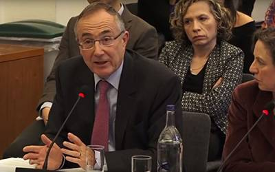 UCL President and Provost Prof Michael Arthur gives evidence at the UK government Education Select Committee in January 2017…