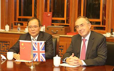 UCL President & Provost, Professor Michael Arthur and PKU President Lin Jianhua at the launch of the new MBA…