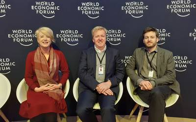 UCL's  Professor Rose Luckin, Professor Geraint Rees and Dr Jack Stilgoe at WEF 2020