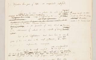 Jeremy Bentham - manuscript on logic