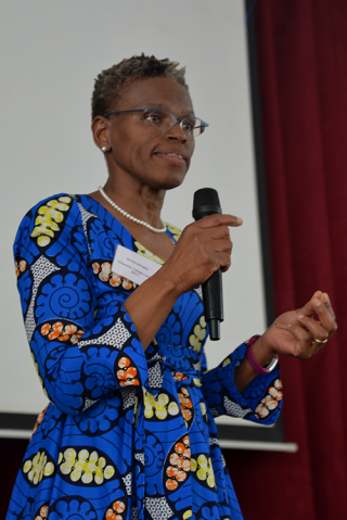 Professor Ijeoma Uchegbu addressing SLURC conference