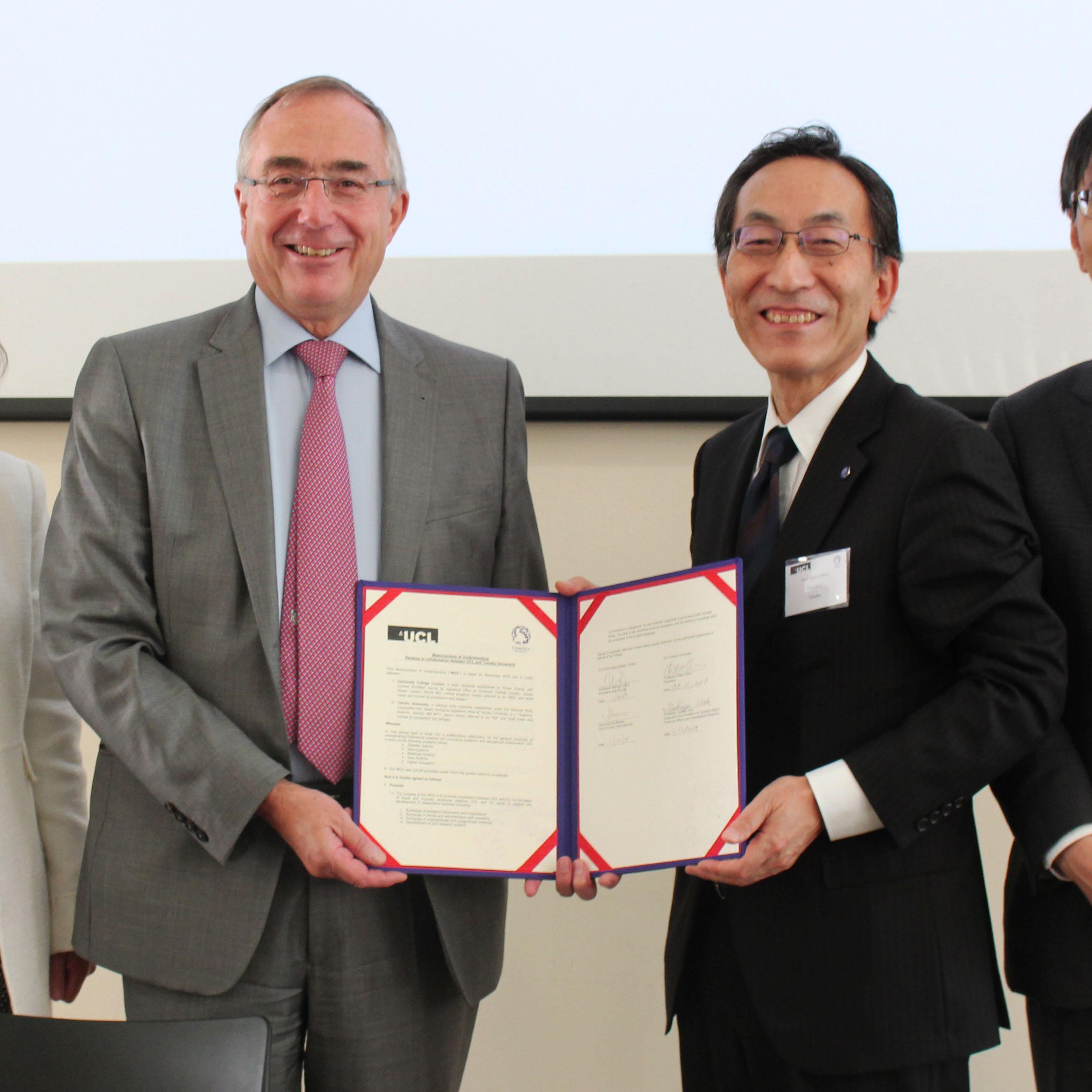 UCL and Tohoku signing MOU