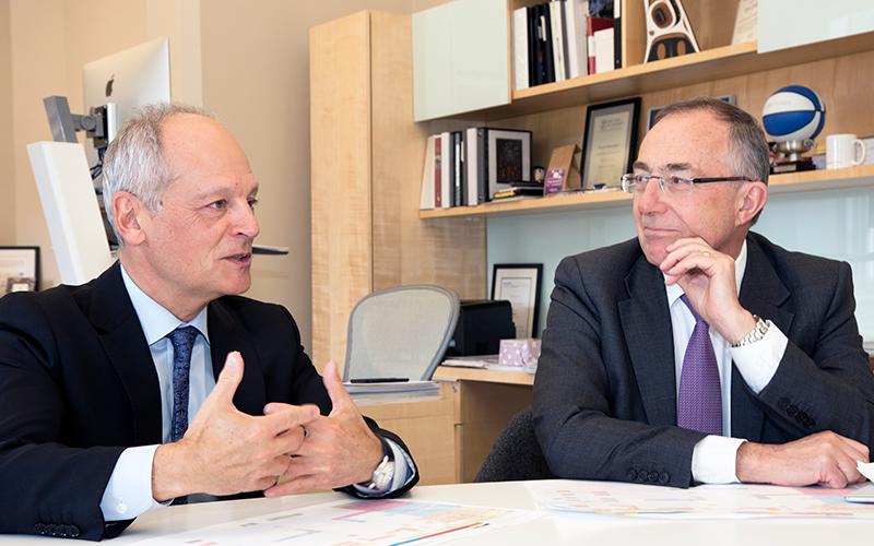 Prof Michael Arthur and U of T President Meric Gertler