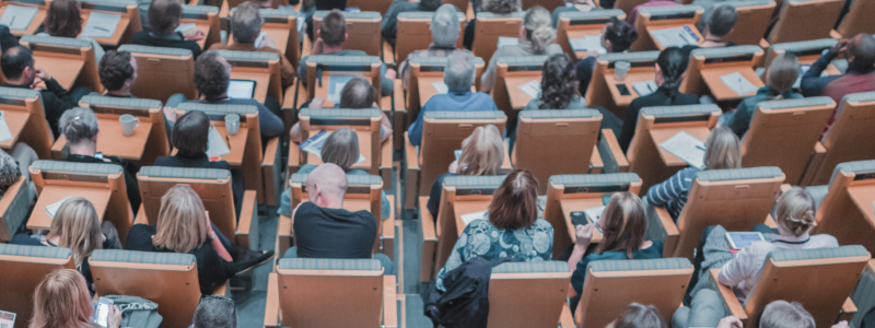 Full lecture theatre