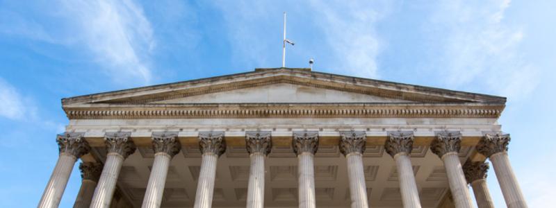 UCL Portico columns