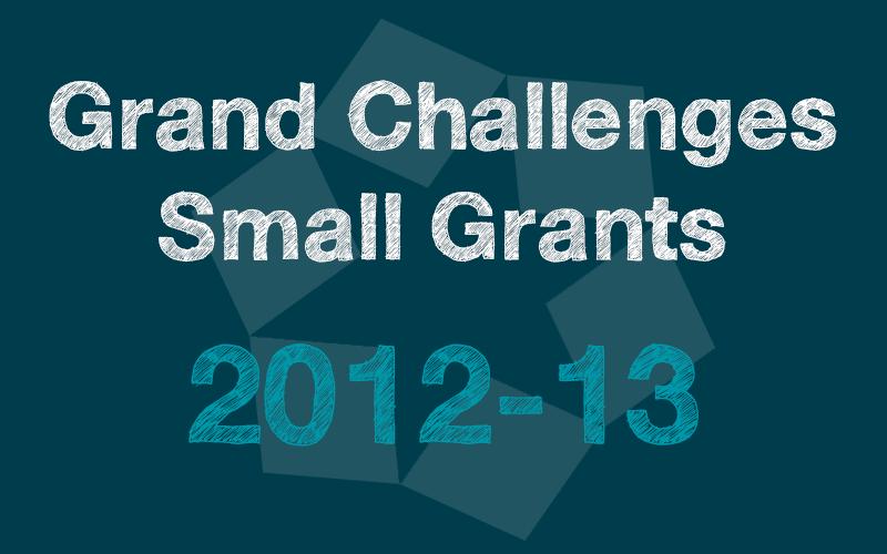 Small Grants 2012-13