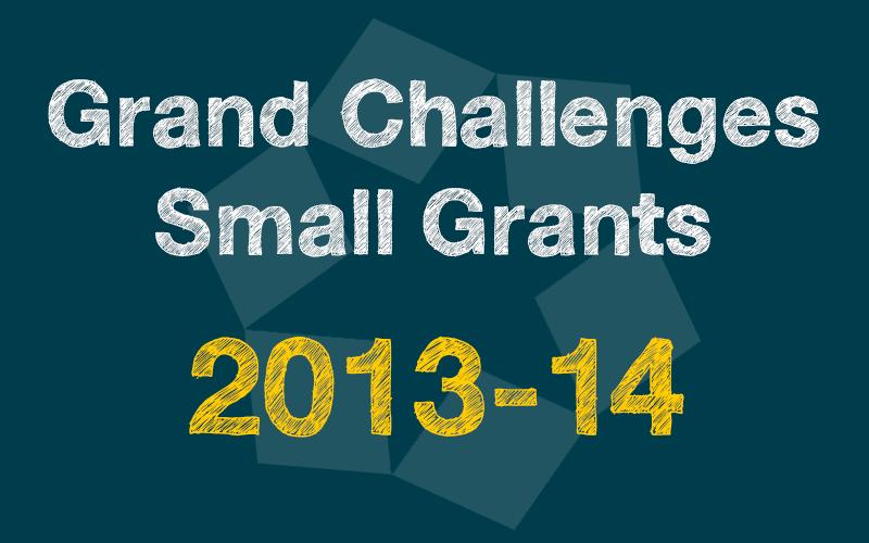 Small Grants 2013-14