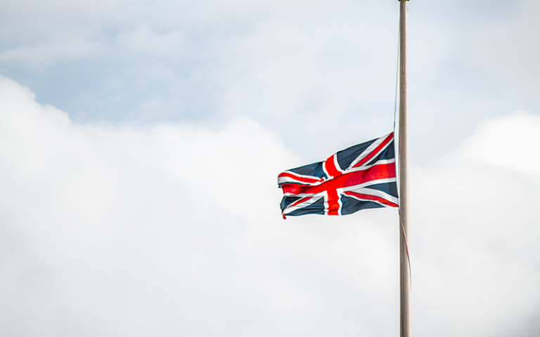 an image of a Union Jack flag on a flag pole