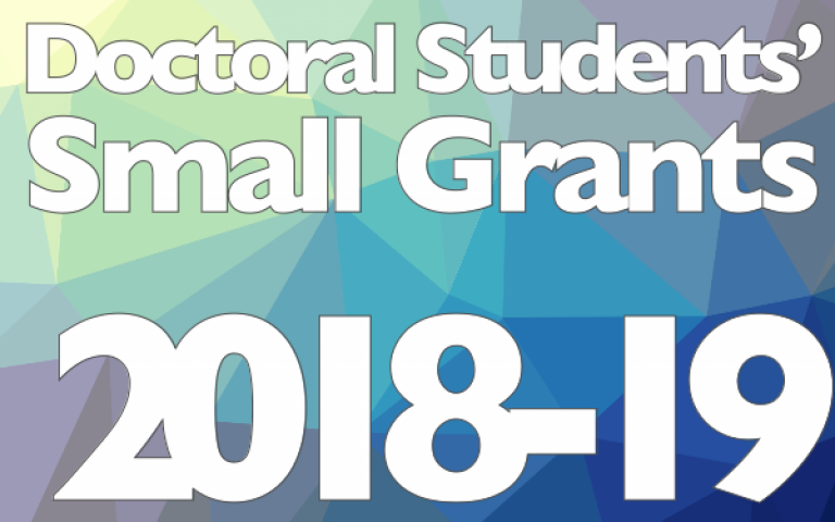 Doctoral Small Grants 2018