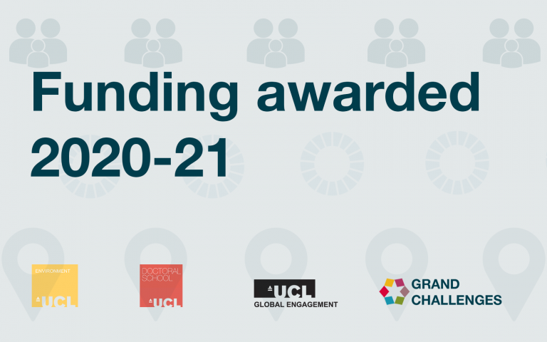 an image of the word funding awarded with ucl logos
