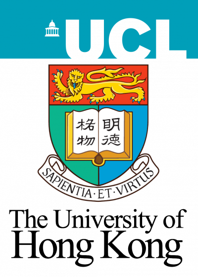 UCL logo and HKU crest