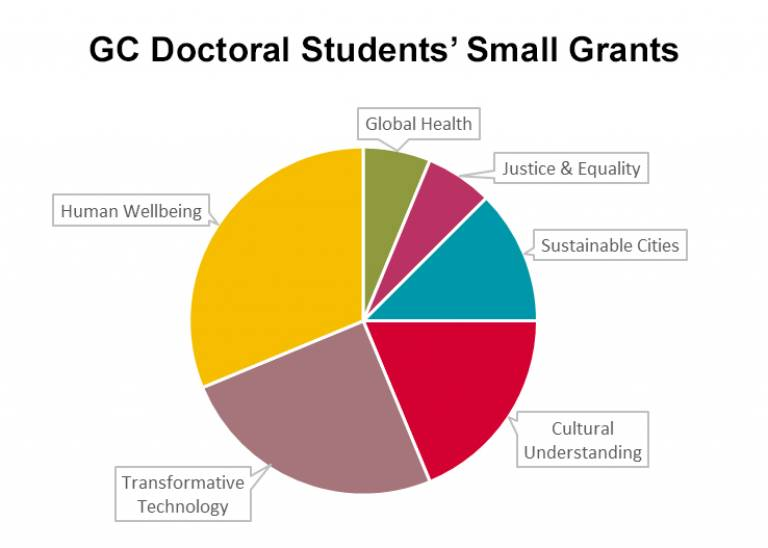 Doctoral School small grants awarded to each Grand Challenge in June 2017