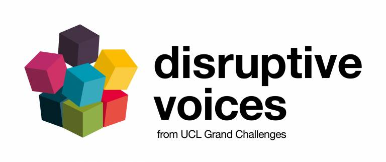 an image of the disruptive voices graphic, with colourful cubes