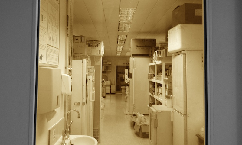 The door to the Gupta Lab