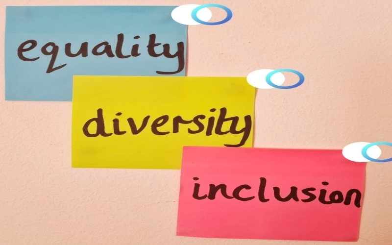 equality diversity and inclusion 3 post it notes