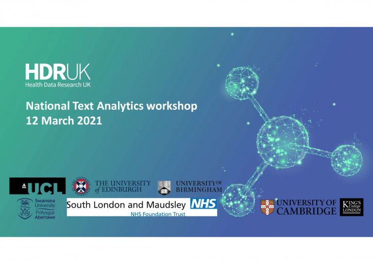 Photo for hdr uk national text analytics workshop