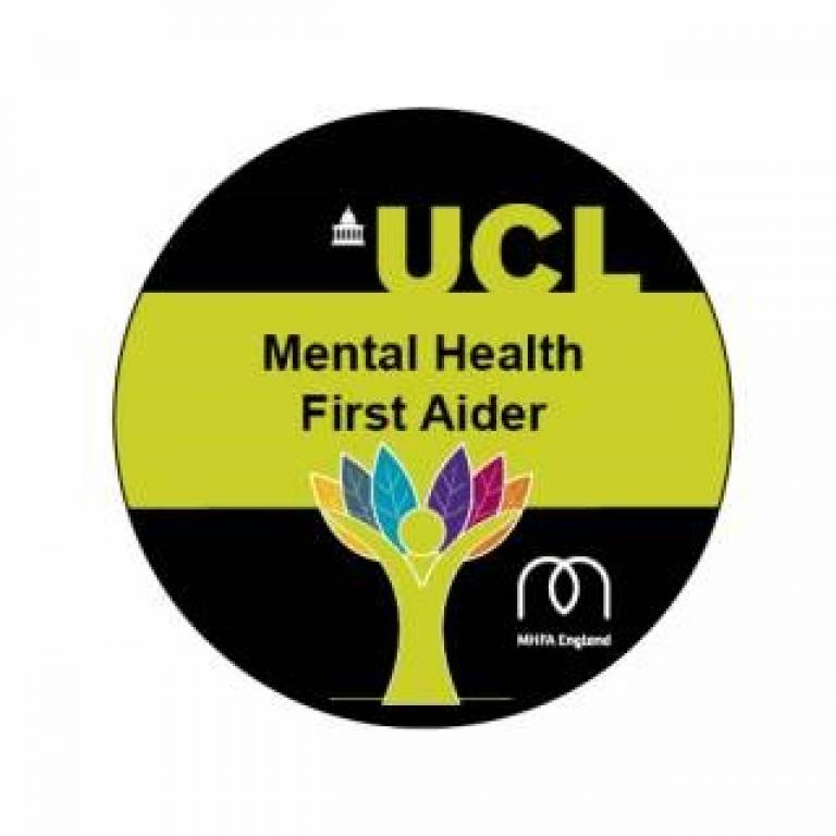 UCL Mental Health First Aider logo