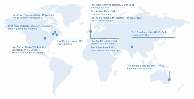 Institute of Healthcare Engineering colloquium speaker map