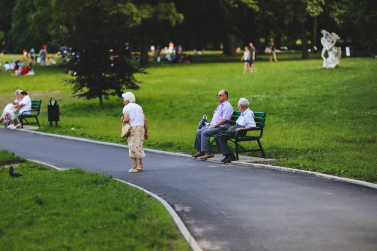 Older people in the park