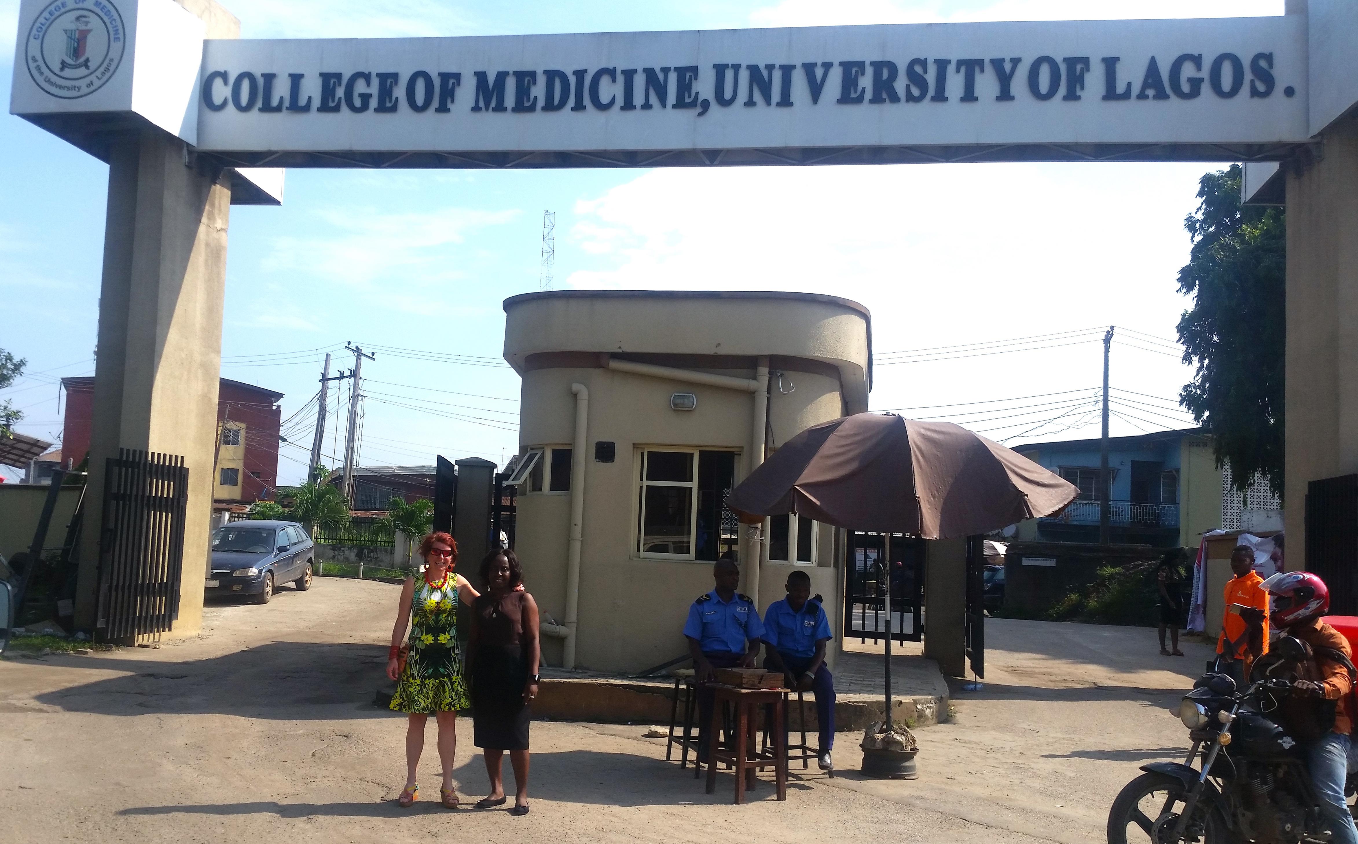 Patty Kostkova and colleague at Lagos University