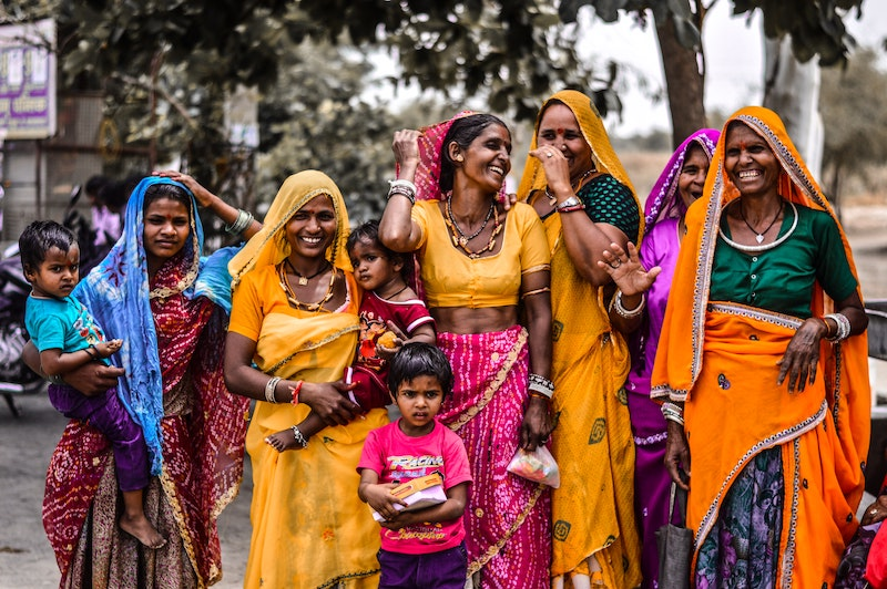 Women and children in Rajasthan