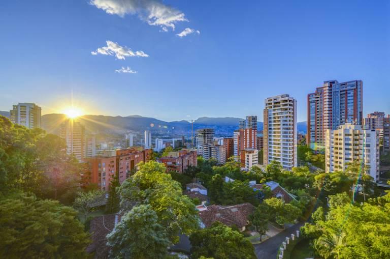 A skyline in Medellin