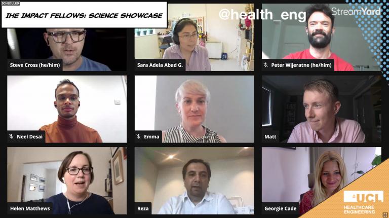 Screenshot of the IHE Impact Fellows presenting