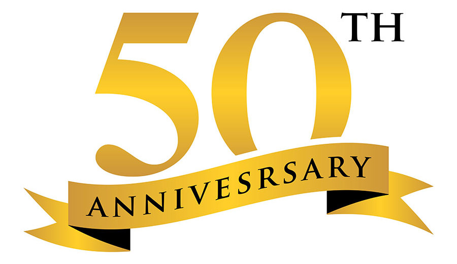 graphic of text 50th anniversary