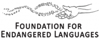 Foundation for Endangered Languages hand logo with text