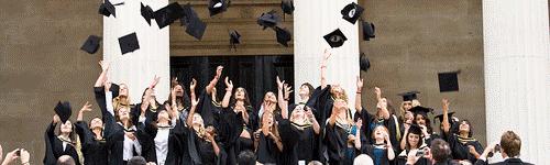 new graduates celebrating