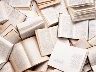 photo of several open books